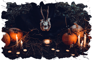 autumn-creepy-pumpkin-skulls-candles